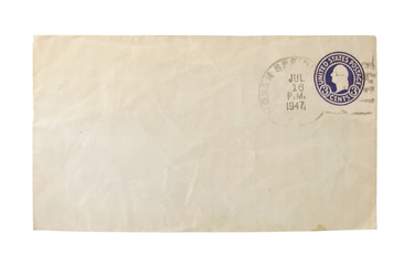Old envelop with calceled stamp