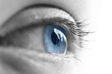 Oeil ouvert, semi profil