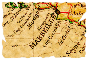 Marseille old map
