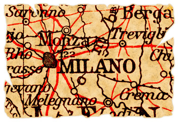 Milan old map