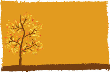 autumn tree background with space for your text