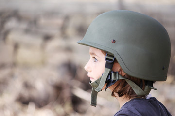 girl in an army hat