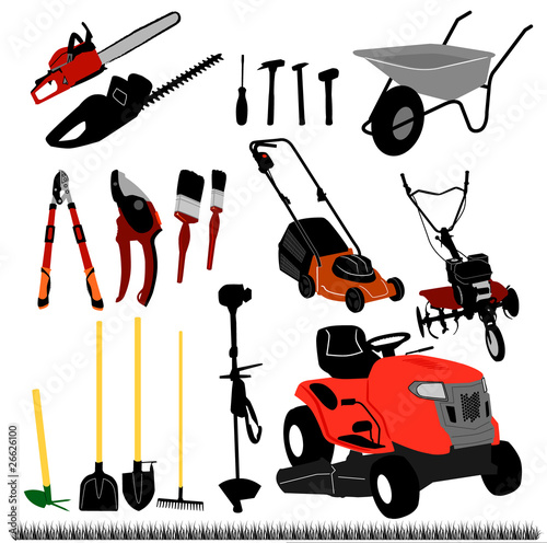 Garden tools vector stock image and royalty free vector for Gardening tools toronto