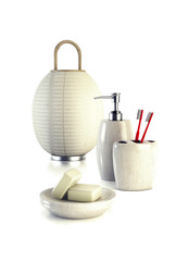 lamp and bathroom accessories