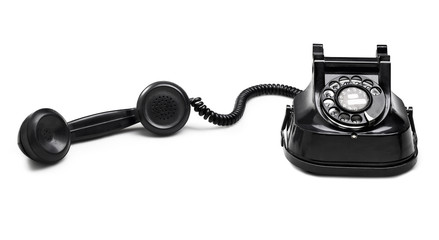 old telephone dial.(clipping path)