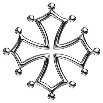 Croix Occitane de chrome