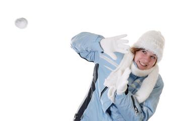 Winter fun: snowball battle