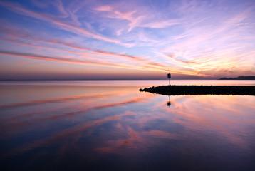 Abendrot am Wasser