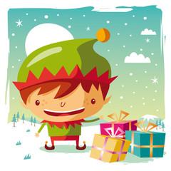 noël - elfe et cadeaux
