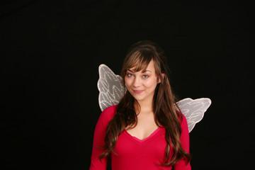 teen girl in fairy wings