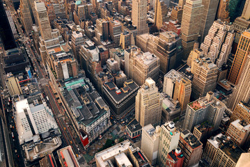 Fototapete - New York City street aerial view