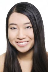 Portrait of young beautiful asian model