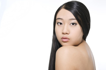 Portrait of young beautiful asian model
