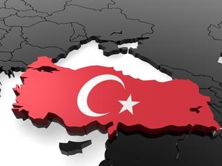 3D Karte Türkei