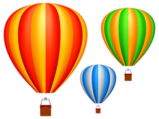 Hot air balloons.