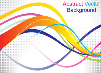 abstrac colorful  wave with rectangular efect