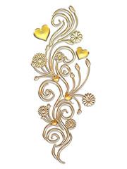 Ornament gold mit Herzen