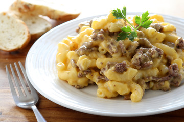 Macaroni and Cheese with Beef