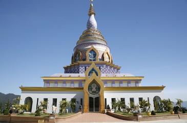Ceramic Pagoda in Chiang Mai, Thailand