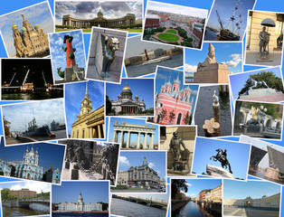 collage photos of Saint Petersburg