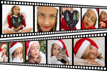 négatifs photo de Noël