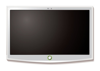 LCD TV Wall hang white