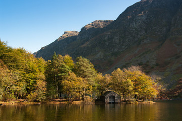 Wastwater boathouse and screes