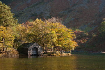 English Lake District boathouse