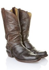 cowboy boots with clipping path