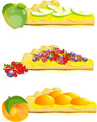 jam tarts with peach, apple and berries jam