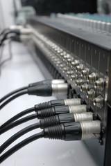Connector signal sound mixer