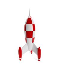 Rakete mit Freistellungspfad