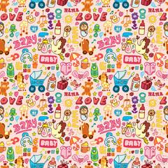 cartoon baby seamless pattern