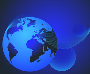 3D planet Earth composition
