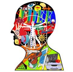 idee /profil / kreativität / silhouette