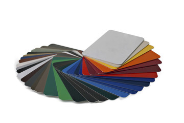 sample metal RAL color chart
