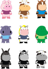 animal cartoon set pack2