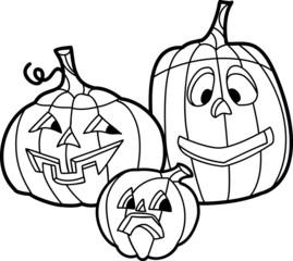 Traditional Hallowin pumpkins