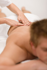 Man having luxury back massage
