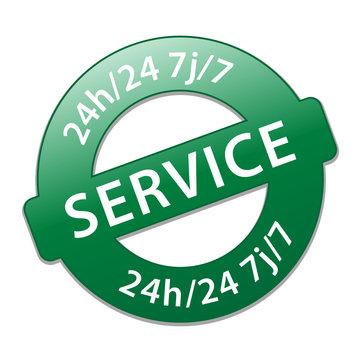 """Tampon """"SERVICE 24h/24 7j/7"""" (7 jours sur 7 24 heures sur 24)"""