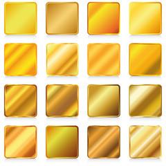 metallische buttons gold