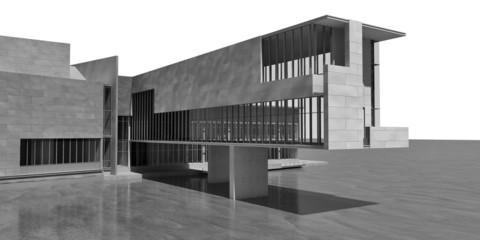 architektur am meer grau