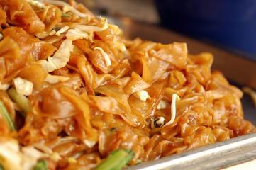 Fried  rice noodle in Phuket Vegetarian Festival