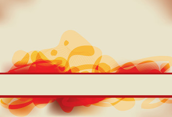 Abstract red and yellow blob background