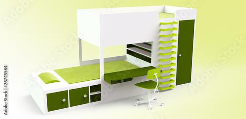 modernes stockbett gr n stockfotos und lizenzfreie bilder auf bild 26745564. Black Bedroom Furniture Sets. Home Design Ideas