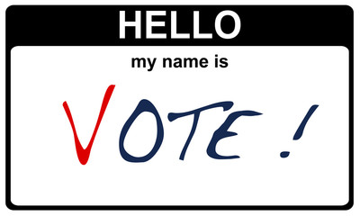 hello my name is vote