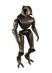 Steel futuristic robot