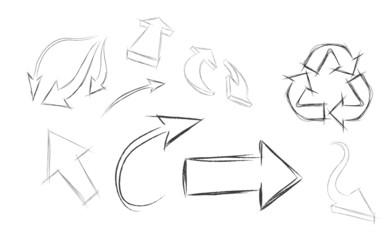 hand draw vector arrows