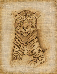 leopard (hands drawing)