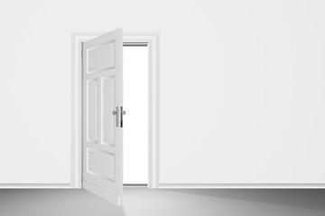 Tür, weiss